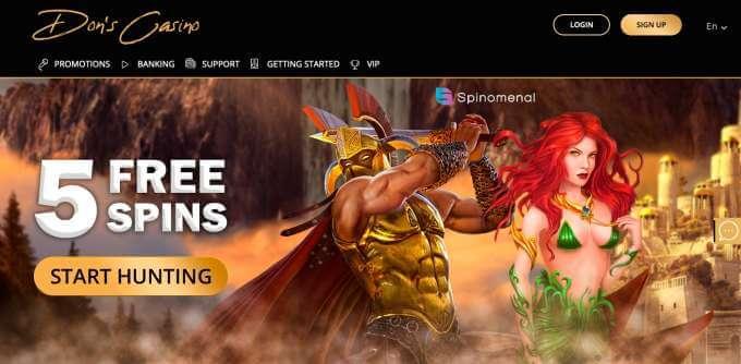 Nové online casino pro české hráče Dons casino!