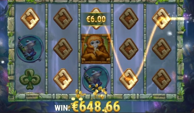 Nádherný herní online casino automat Rainforest Magic od Play'n GO