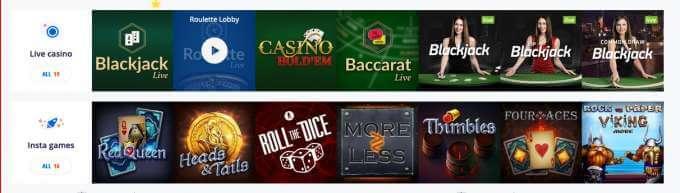 Automaty zdarma jako jsou Insta Games a Blackjack!