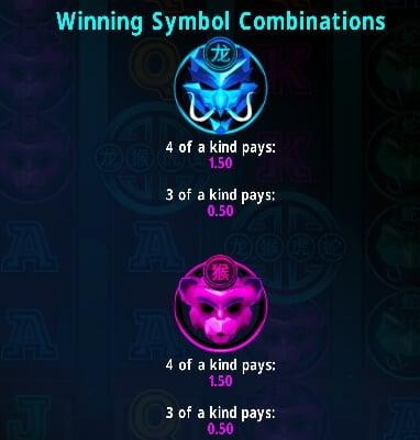 Symboly v herním automat Ancient Warriors