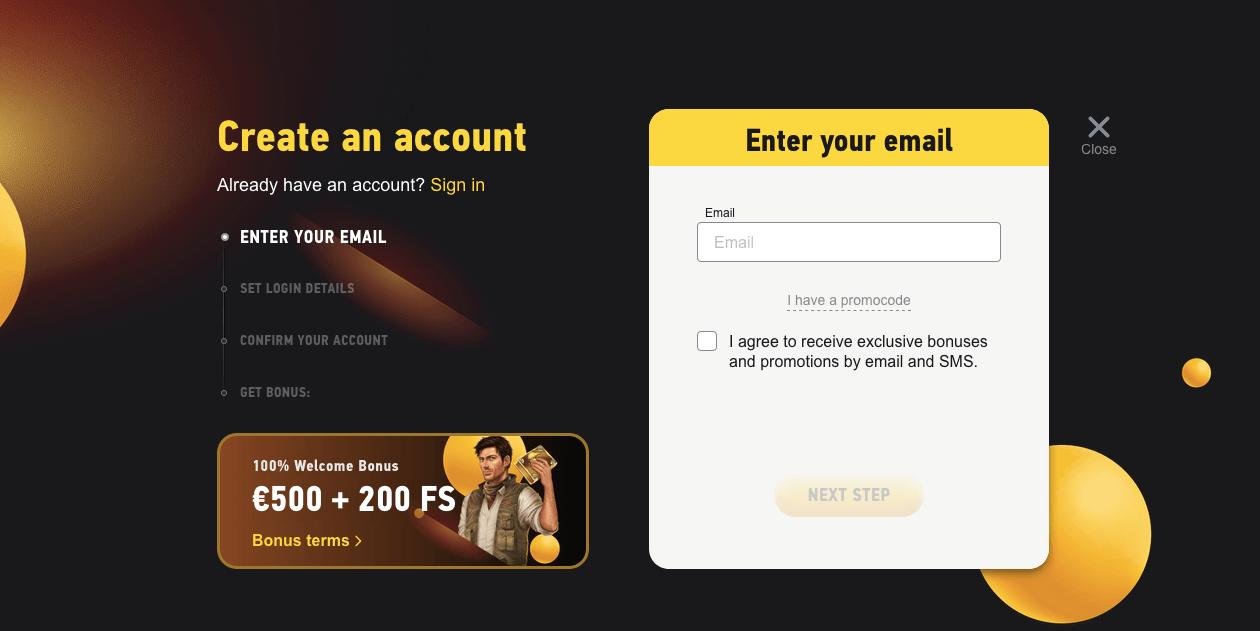 Jak se zaregistrovat ve FEZbet casinu
