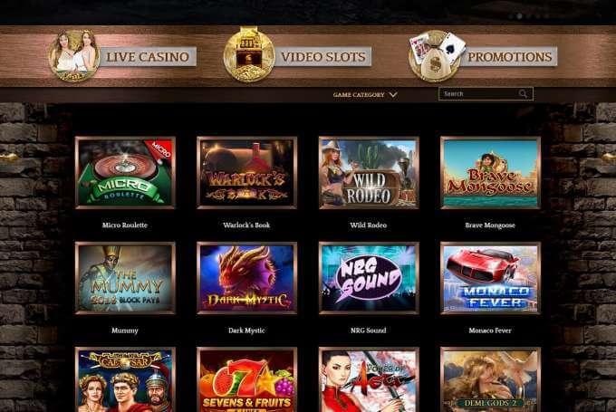 Online casino Bronze bez nutnosti vkladu a plno automatů zdarma!