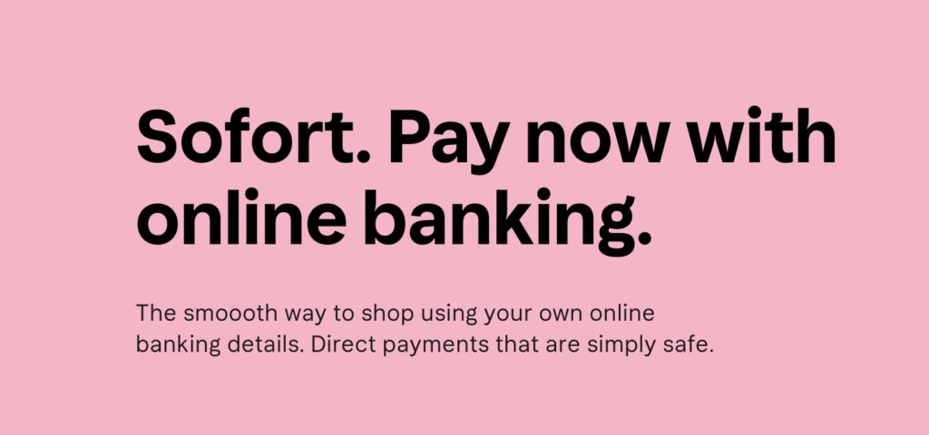 Sofort Banking Klarna website