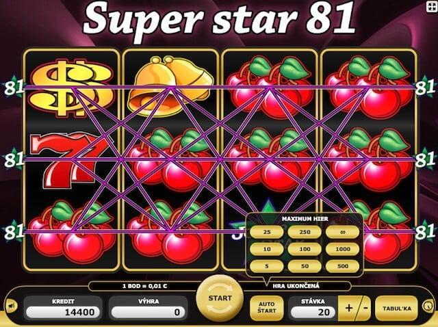 Super Star 81 automat zdarma od Kajotu