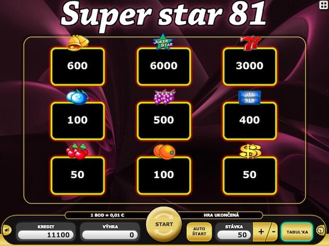 SuperStar 81 neboli automat zdarma od Kajotu