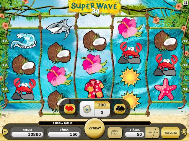 Hrací automaty zdarma Super Wave v Kajot casino
