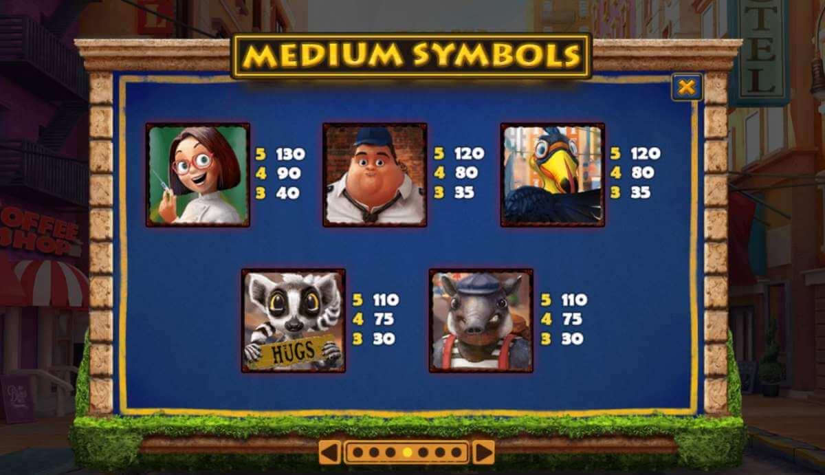 Symboly v herním automat Wiild Heist