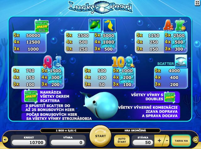 Vyzkoušej si hrací automat Lucky Pearl