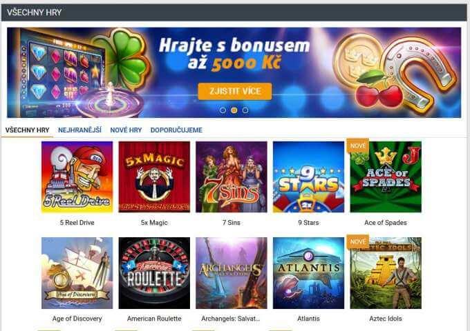 Tipsport online casino zdarma a