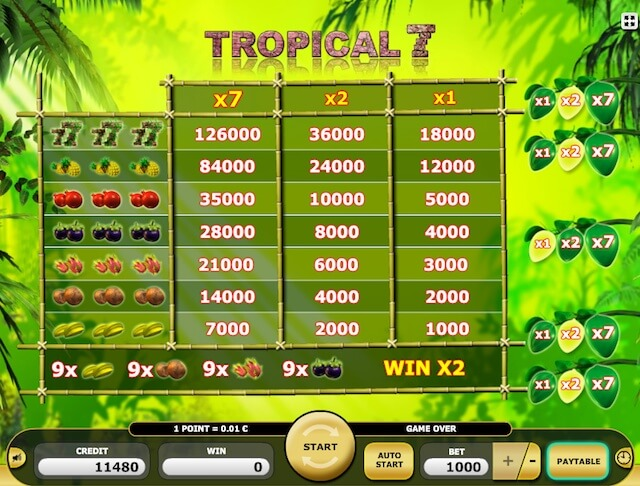 Zdarma automaty Tropical 7