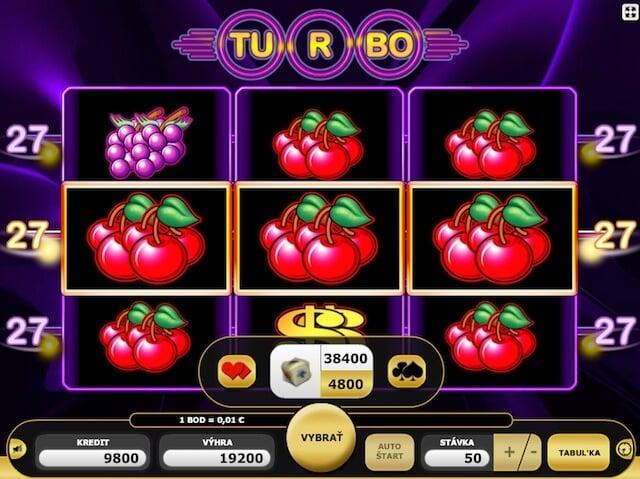 Automaty zdarma Turbo 27 od Kajot games
