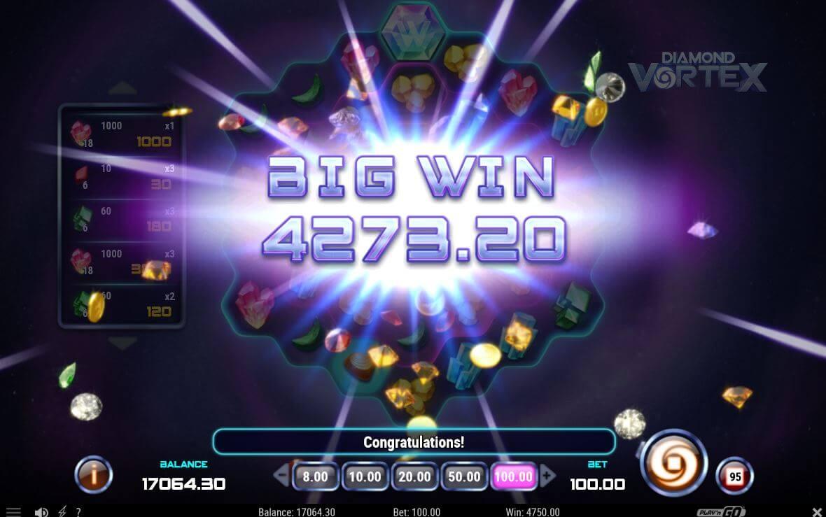 Diamond Vortex - velká výhra