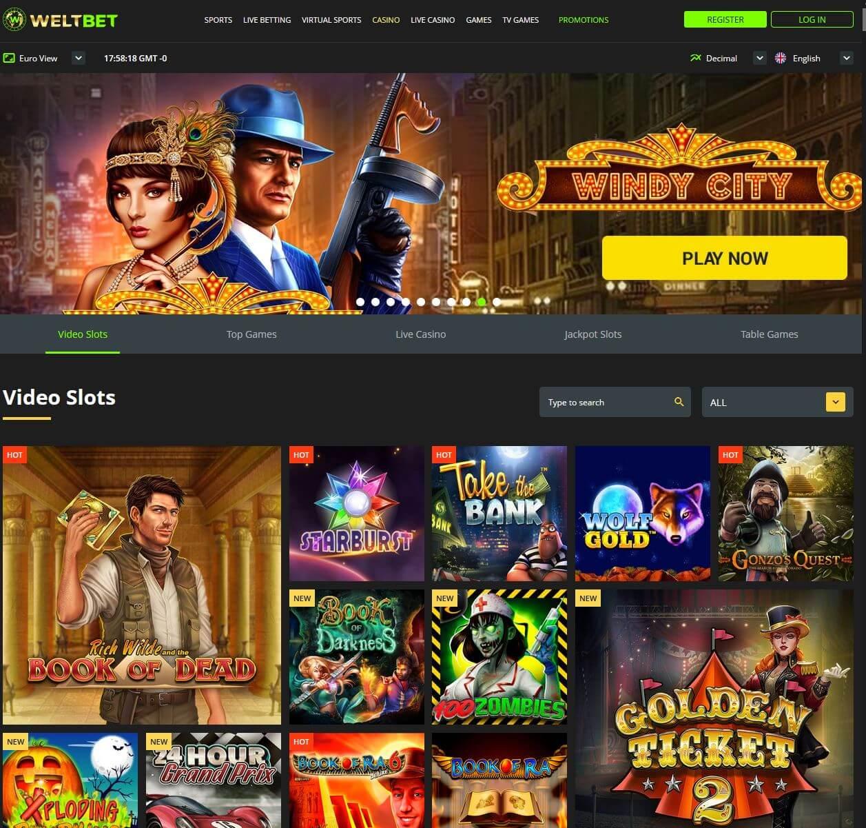 Casino hry v WeltBet