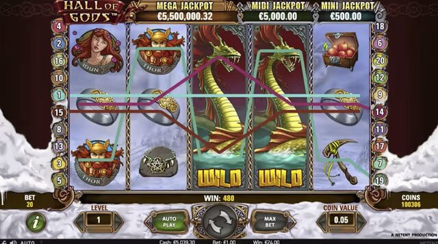 Hall of Gods je nejnovější hra na internetu