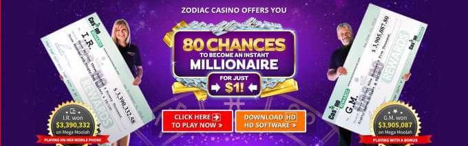 Bonusy v Zodiac casinu